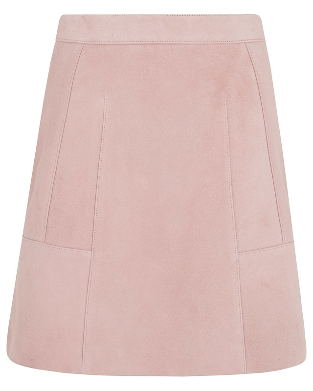 suede a line detail skirt endource