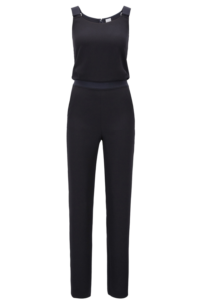 crepe cropped leg jumpsuit endource. Black Bedroom Furniture Sets. Home Design Ideas