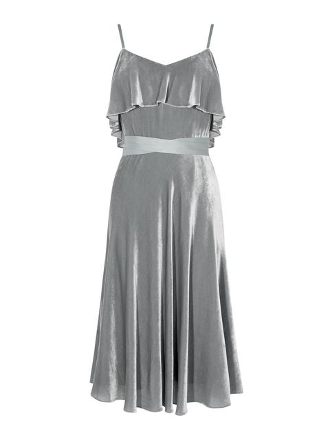 Velvet Frill Dress Endource