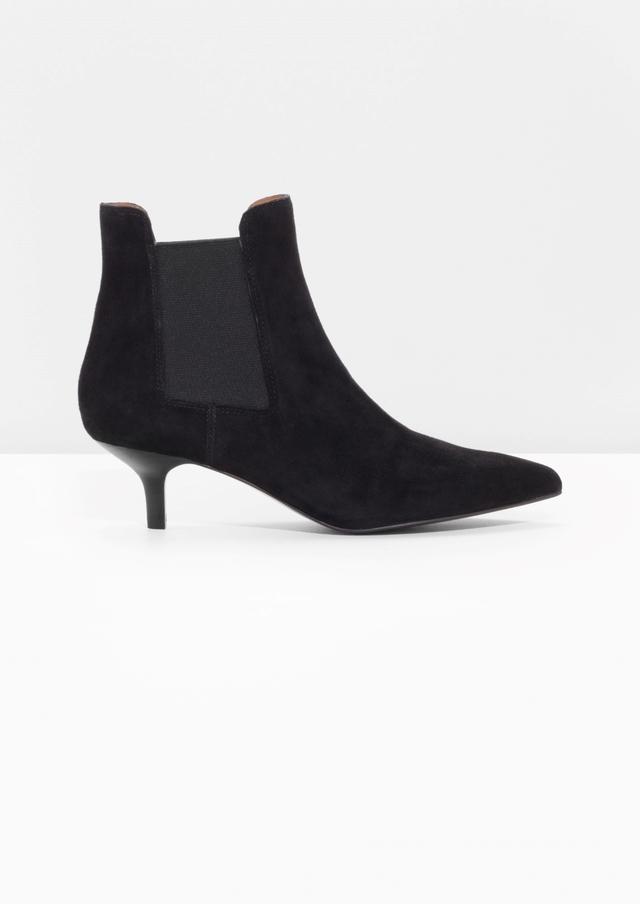 kitten heel suede boots endource