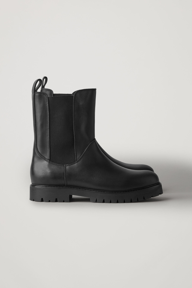 High Leather Chelsea Boots   Endource