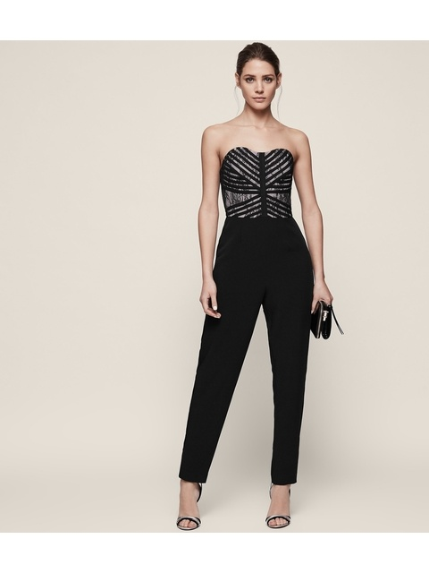 a2bc7acffc04 Ciara Lace Bustier Jumpsuit
