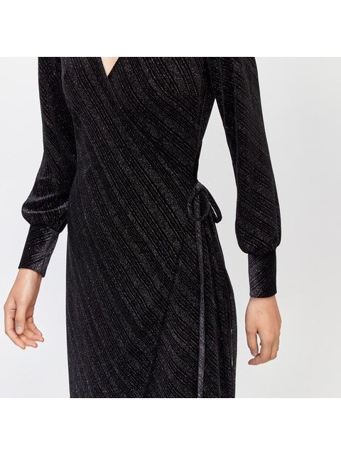 ab501754968 Glitter Velvet Wrap Dress