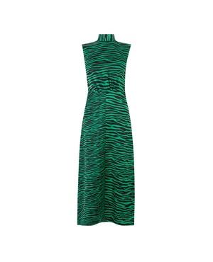 1914d1dbbebc Warehouse Green Animal Print Dresses | Endource