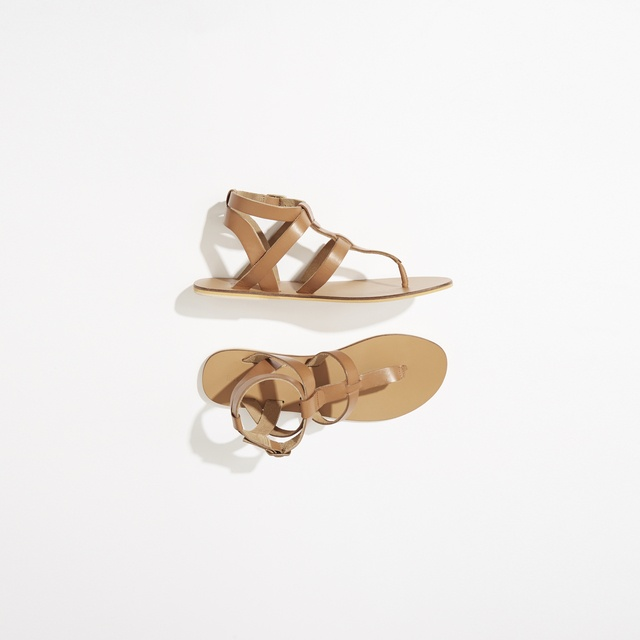 Warehouse Leather Toe Post T-Bar Sandals clearance newest shopping online cheap online sale online store from china free shipping low price IOjShX94d