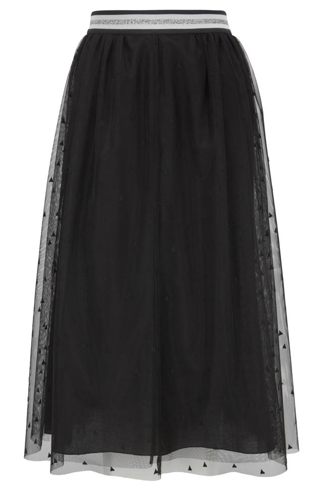 Midi-length A-line Skirt