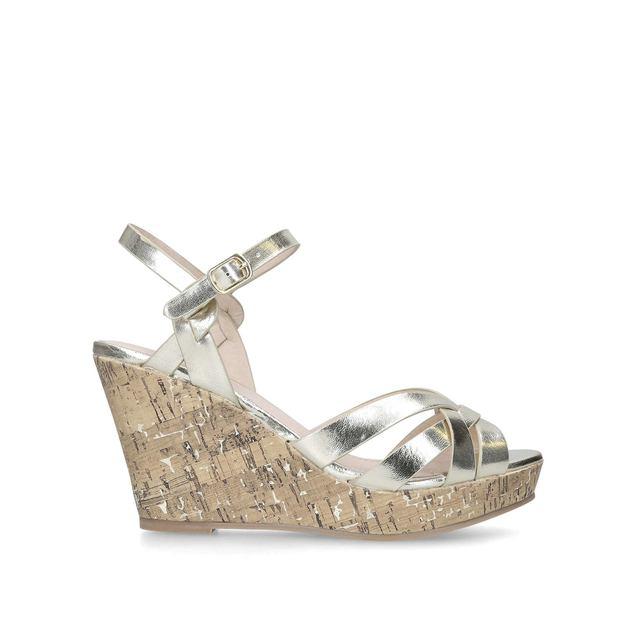 641c49fc84ad Parisian Cork Wedge Heel Sandals