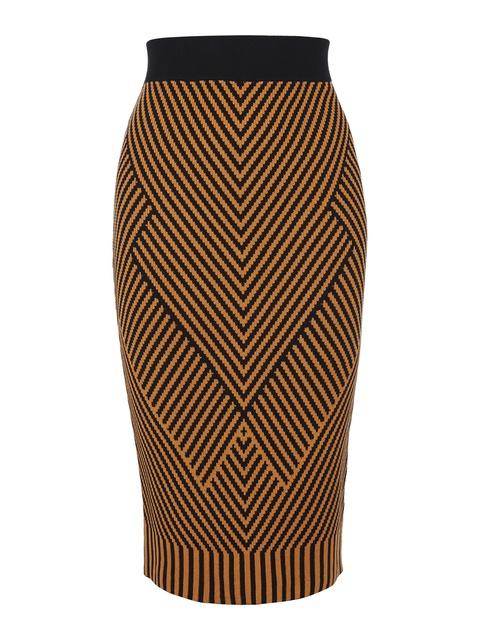 011d4b2fd3 Contrast Knitted Pencil Skirt | Endource
