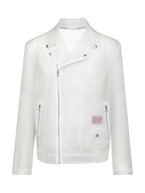 5746c4d3 Transparent Unisex Biker-Style Logo Jacket | Endource