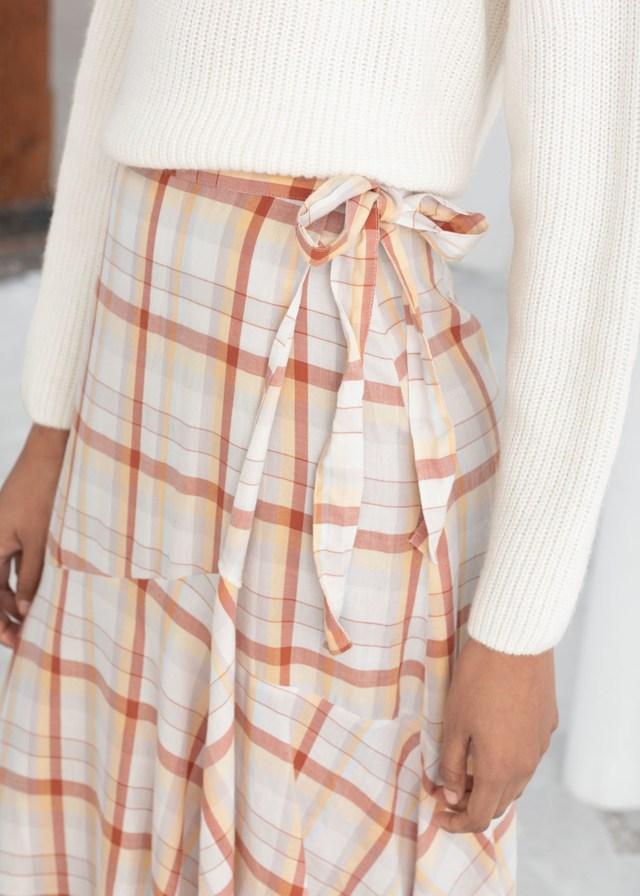 6f5dbaddeb3 Striped Handkerchief Midi Skirt