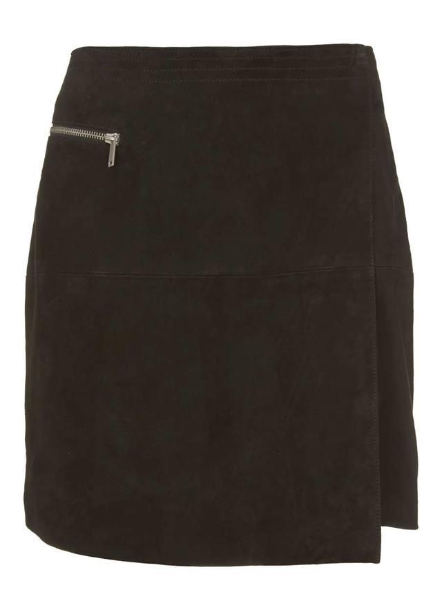 6e02097145 Suede Wrap Mini Skirt | Endource