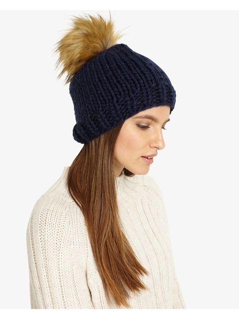 6aee9e32493 Ella Cable Knit Pom Pom Hat