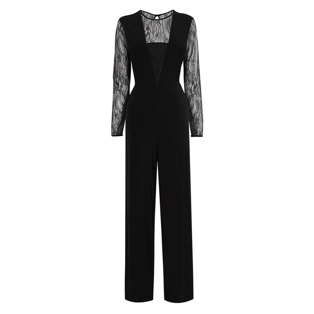 e179a6aef27 Chi Lace Sleeve Jumpsuit