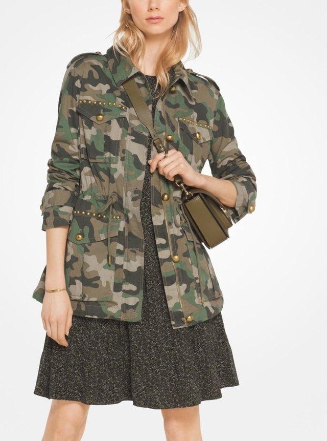 Studded Camouflage Jacket Endource