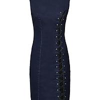 1cc5d0fd1c Corset Detail Denim Dress