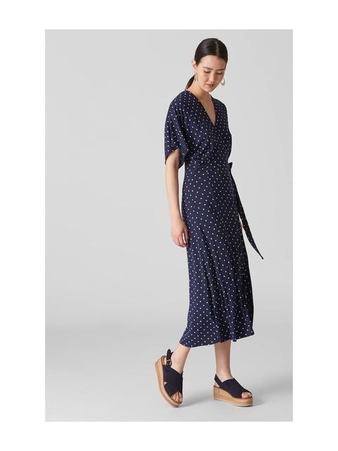 38e5bc0751b Spot Print Wrap Dress   Endource