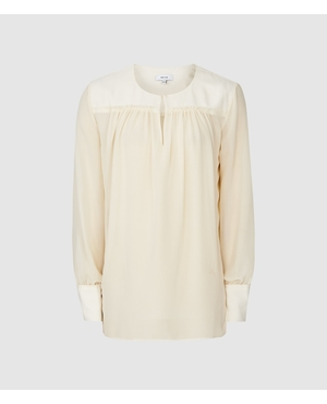 030fa7872ff6fc Indie Semi Sheer Smock Blouse by Reiss