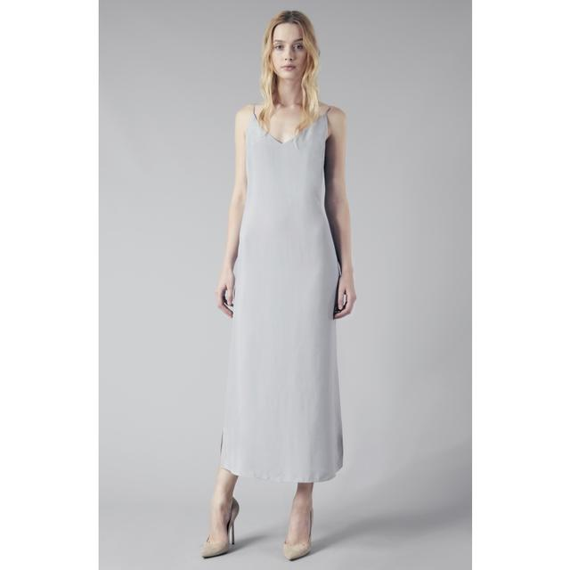 c15c50530f79 SLIP DRESS — LIGHT GREY CUPRO | Endource