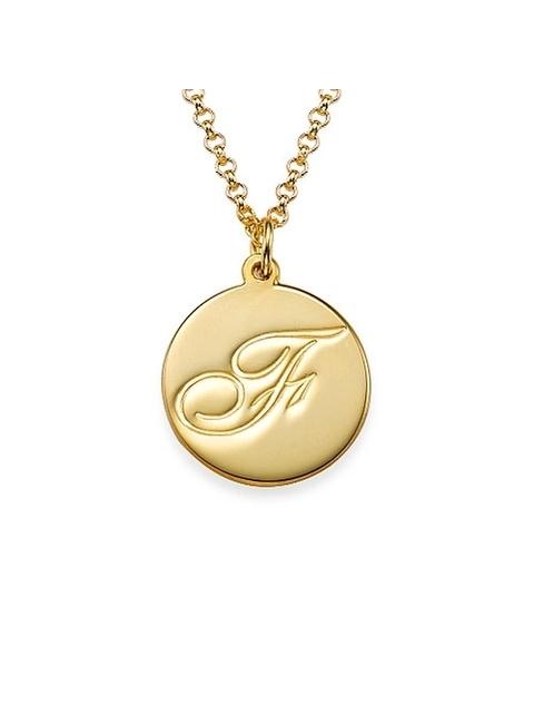 e48fa18d99bcae Alphabet Disc Necklace | Endource