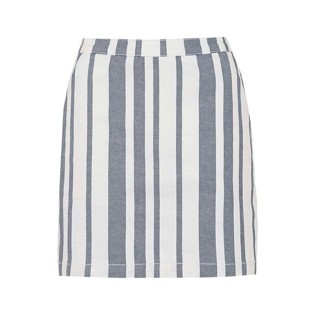 Striped Denim Skirt | Endource