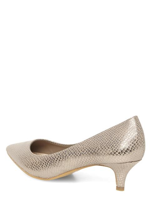 84c0edd3c7b Silver Shimmer Kitten Heels