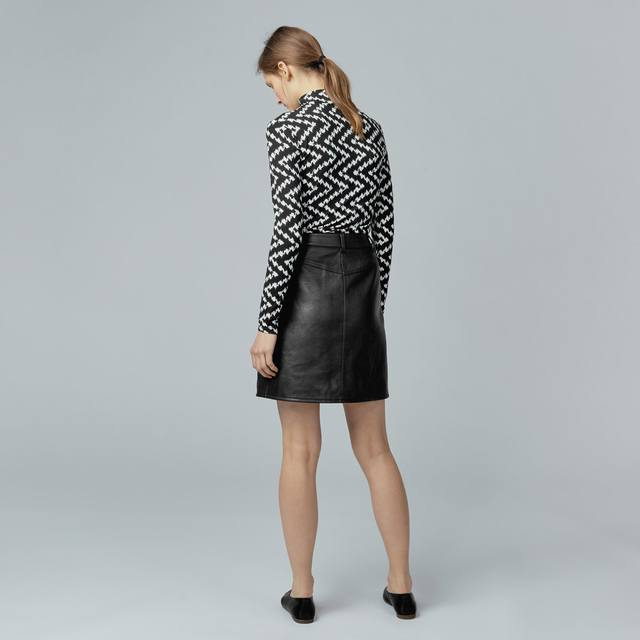 Faux Leather Skirt | Endource