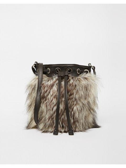 Faux Fur Cross Body Bag  f46de1393f038