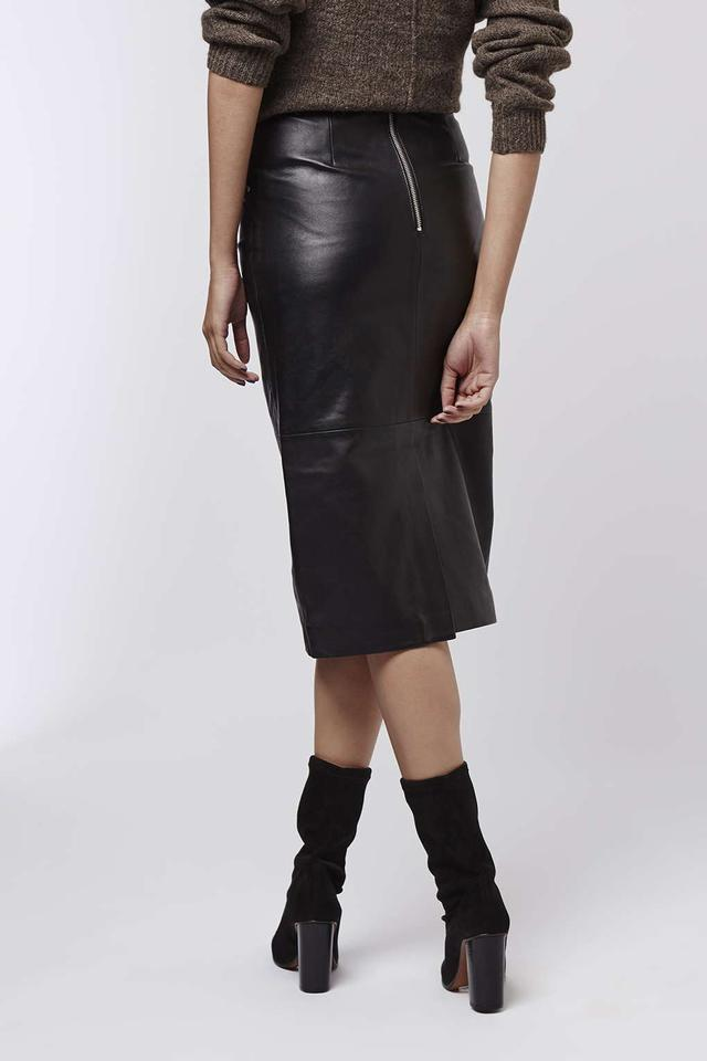 Leather Zip Pencil Skirt | Endource