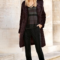 Berry Faux Fur Jacket | Endource