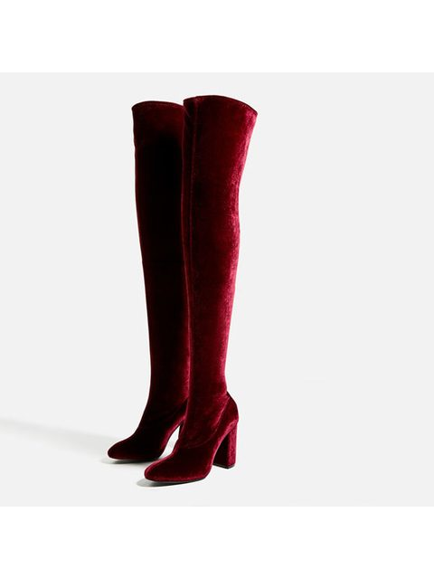 1f7b8b2b4515 Velvet Over-The-Knee Boots