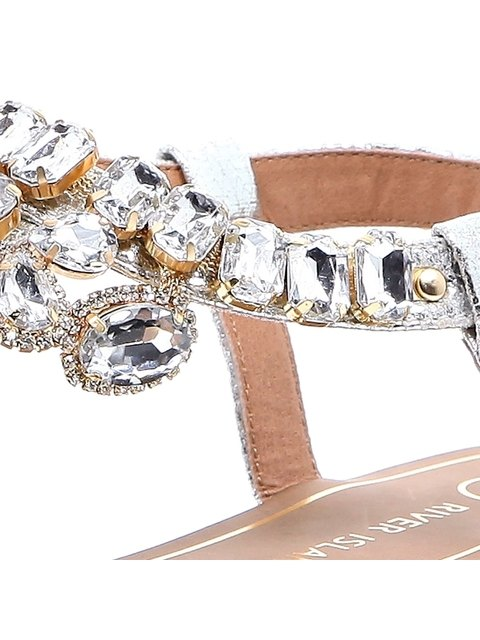 a57eb0987 Gemstone Embellished Sandals