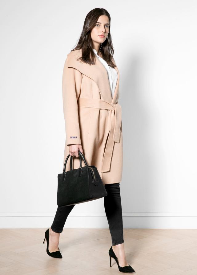Wraparound wool blend coat endource for Boden jennie coat
