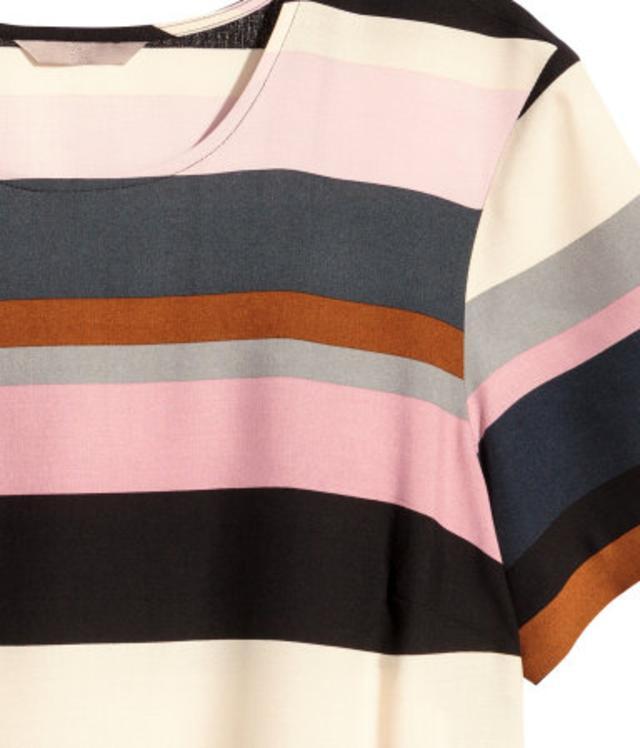 Striped T-shirt Dress by H&m