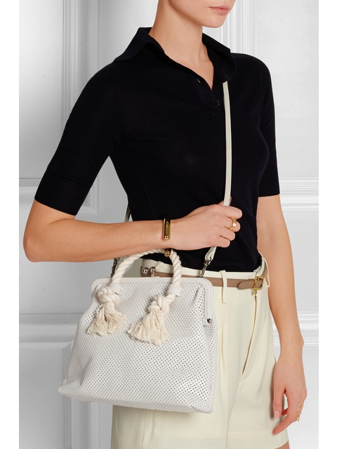 a0a94d217d8 Franc Rope-trimmed Perforated Leather Tote   Endource