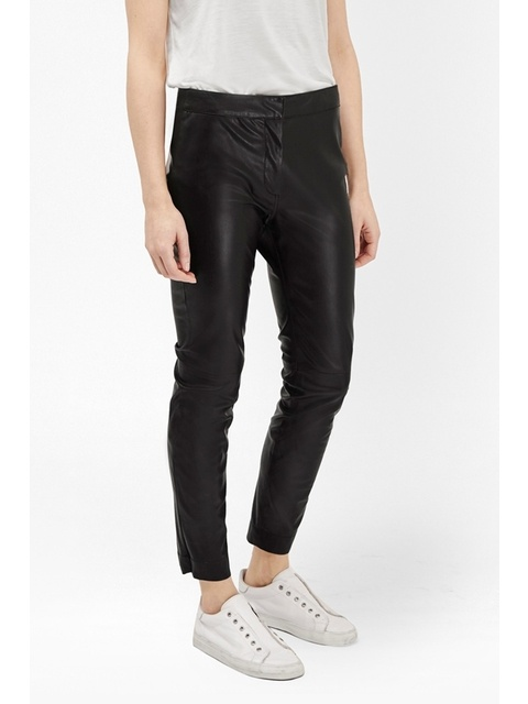 76ad2eb5d47 Atlantic Faux Leather Cropped Trousers | Endource