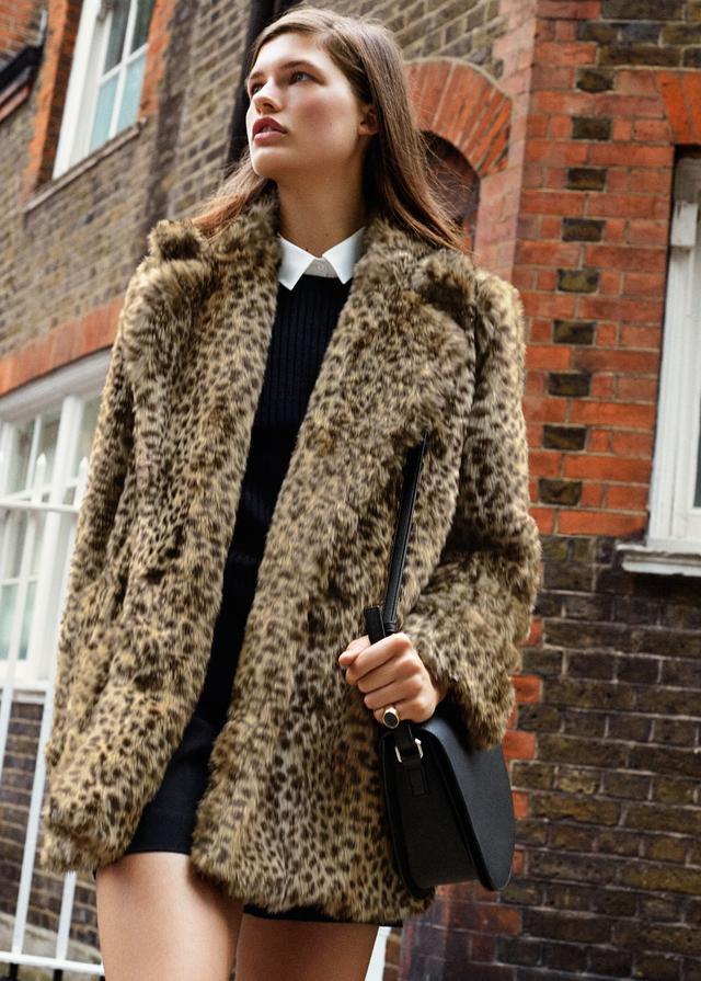 5db806930184 Leopard Faux Fur Coat Mango - Tradingbasis