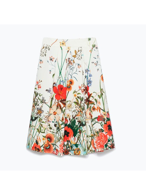 80fc0a34 Pleated Floral Print Skirt | Endource