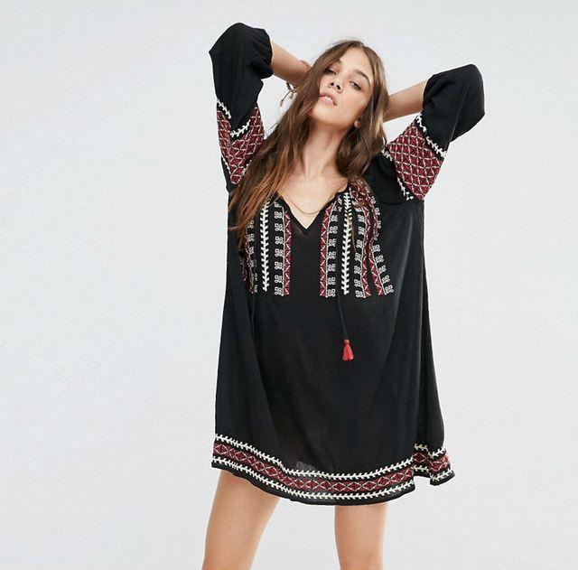 8a934789cbc93 Embroidered Boho Dress