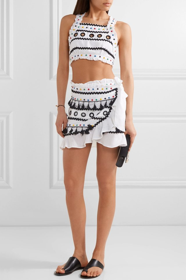 abigail wrap mini skirt endource