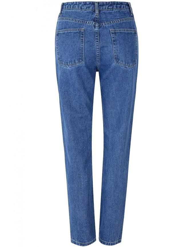 Embroidered straight leg jeans endource