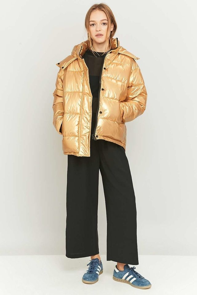 Metallic Puffer Jacket Endource