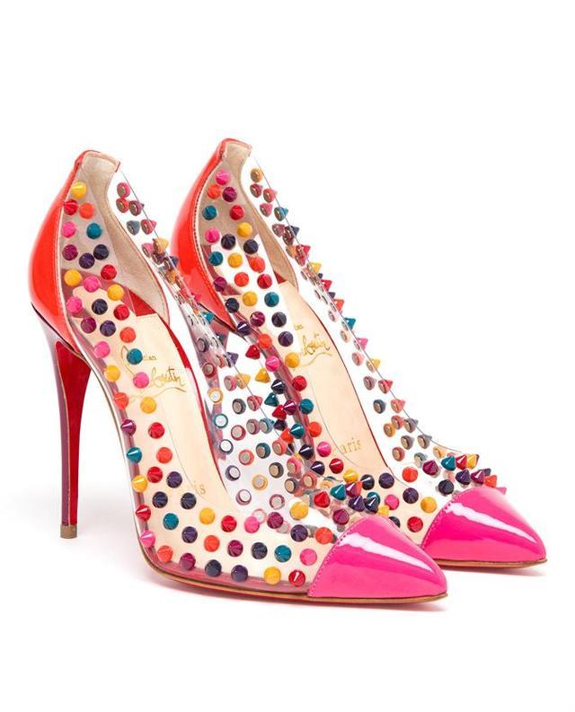 knock off shoes for sale - Spike Me PVC Cap-Toe Pump | Endource