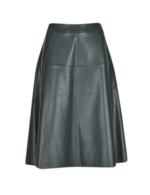 speziale leather panelled a line skirt endource