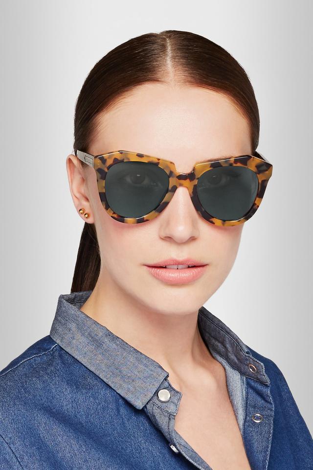 Number One Round-Frame Tortoiseshell Acetate Sunglasses Karen Walker JRvBAz3
