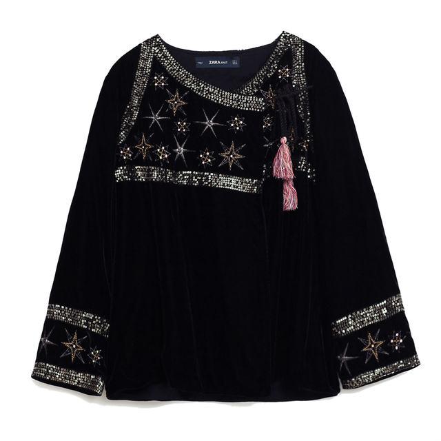 Embroidered Stars Velvet Jacket Endource