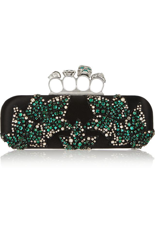 647da8610 Knuckle Swarovski Crystal-embellished Satin Box Clutch | Endource