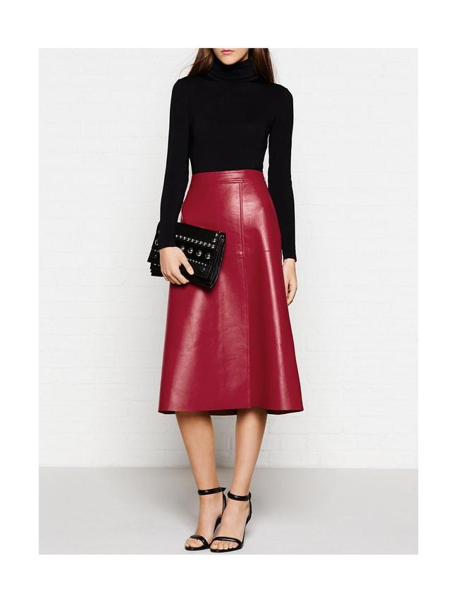 Racianas Leather A Line Skirt | Endource