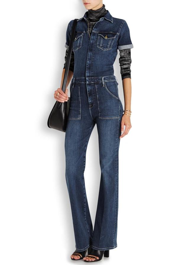 Flared Denim Jumpsuit Breeze Clothing