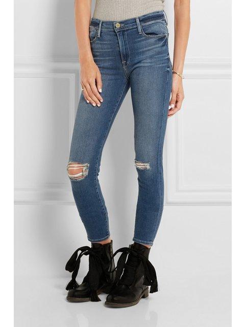8aad813ea74 Le High Skinny Distressed Jeans | Endource