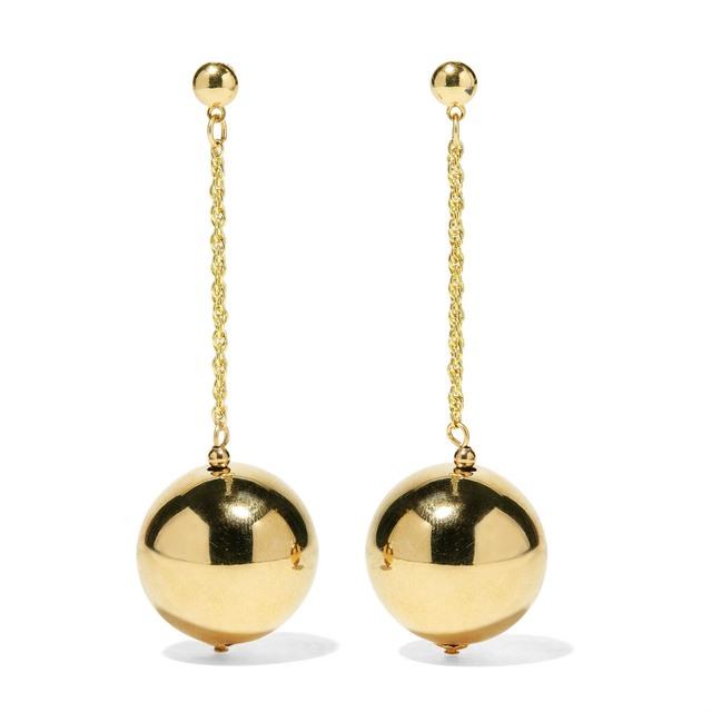 Kenneth Jay Lane Ball & Chain Drop Earrings gUuJx